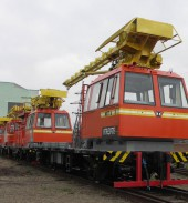 Another lot of track maintenance vehicles got by Turkmen Railways
